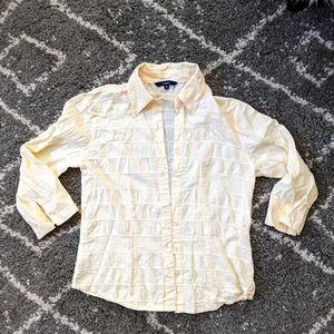 ⚡3/$20⚡Textured cotton button up sz:S